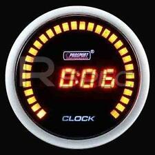 Prosport 52mm Black Digital Clock Gauge with RED time display