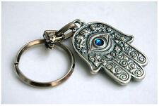 HAMSA keychain SWAROVSKI crystal element amulet charm hand ring