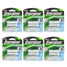 6 Pack Energizer Rechargeable Power Plus AA 2300 mAh Batterie 2 Ea =12 Batteries