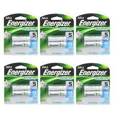 6 Pack Energizer Rechargeable Power Plus AA 2300 mAh Batterie 2 Ea =12 Batteries