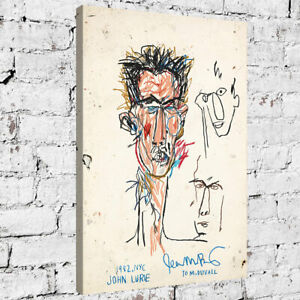 """36x24"""" inches Jean-Michel Basquiat """"John Lurie"""" HD print on canvas large picture"""