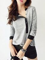 BNWT Grey and Black Crew Neck Long Sleeve Top, Size M