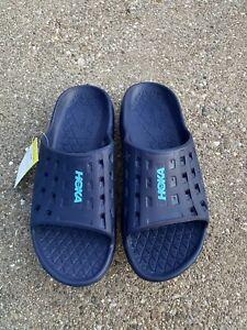 Hoka One One Men's Ora Recovery Slip On Slides Sandal Size US 11 Blue