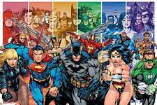 DC COMICS: JUSTICE LEAGUE caratteri-Maxi poster 91.5cm x 61cm (nuovo e sigillato)