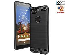 Google Pixel 3a Case Shock Absorption Carbon Fiber Texture Durable Black Cover