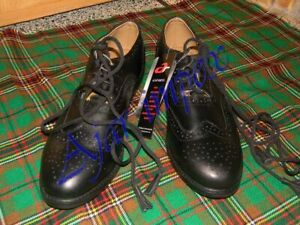 Leather Ghillie Brogues Shoes Genuine Leather Ghillie Scottish Kilt Shoes 4-12