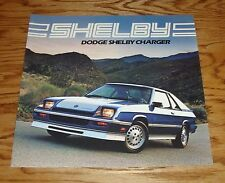 Original 1983 Dodge Shelby Charger Sales Brochure 83