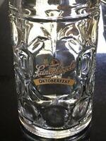 Leinenkugel's Oktoberfest Clear Glass Dimpled Beer Mug 1 L Germany