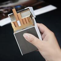 20 sticks Automatic Cigarette Case With Inbuilt Windproof Lighter Box Holder