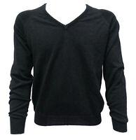Maglia Maglione Uomo Scollo V Fred Perry Sweater Men VNeck Black Green 30322065