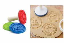 "Tovolo Cookie Stamps 3 Set ""Homemade"" - ""Made With Love"" - ""Milk & Cookies"""