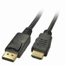 Display Port Dp A Hdmi Macho Hd Tv Lcd Pc Laptop Cable Av Adaptador 3m Extra Largo