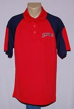 Los Angeles Angels of Anaheim Polo T-Shirt Red/Navy XL