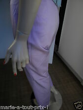 ESCADA SUBLIME PANTALON LAINE MAUVE T  38 PROVENANT D'UN DEFILE DE MODE RARE !!