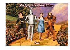 Wizard of Oz a5 Compleanno Biglietto Personalizzato Gran Nan Mamma Sorella Figlia AMICO