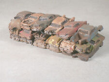 Ho Scale Stack of Rusted Out Cars #1