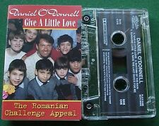 Daniel O'Donnell Give a Little Love Romanian Appeal Cassette Tape Single TESTED