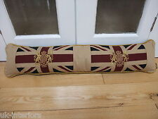 "Vintage Royal Crest Union Jack Flag Draught Excluder 36"" Crown and Lion Unicorn"