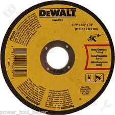 "100pc Dewalt DWA8051 Metal Cut Off Wheel 4-1/2 x 7/8 x .045"" for DW8062 DWA4531"