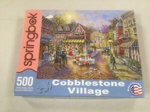 "Springbok Puzzle ""Cobblestone Village"" 500 Piece - Complete"