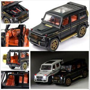 Matte Gray 1:24 Mercedes-Benz G63 Alloy Car Model Toy Off-Road Vehicle Ornaments