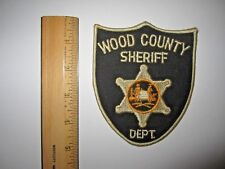 WOOD COUNTY SHERIFF DEPT. POLICE EMBROIDERED PATCH MINT UNUSED