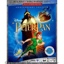 Disney Animated Children's Classic Peter Pan on Blu-ray DVD Digital Copy Code