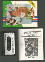GAZZA'S SUPER SOCCER - Empire - Boxed COMMODORE 64 C64 CASSETTE GAME - Tested