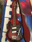1972 Norma Japan electric guitar – Incredible – COMPLETE, Teisco, w Orig case for sale