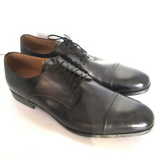 C-1600100 New Bally Lampy Dark Navy 14 Calf Washed Oxford Shoes Size US 12 D