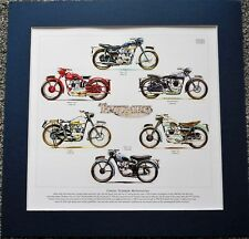 Classic Triumph Motorcycles Stunning Artwork Print