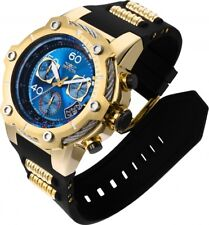 Invicta Men's 50mm Bolt Swiss Z60 Chronograph Blue Dial 18k Gold Plated SS Watch