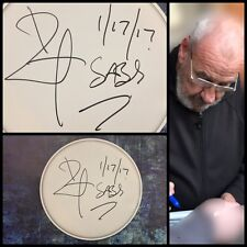 "Gfa Black Sabbath Drummer * Bill Ward * Signed 10"" Drumhead Proof B2 Coa"