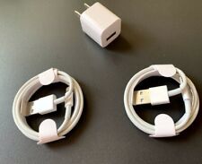 1 Charger and set of 2 3-foot Cables for iPhone.