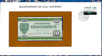Banknotes of All Nations Faroe Islands 10 Kroner P-16 1974 UNC serie A0743A