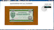 Banknotes of All Nations Faroe Islands 10 Kroner P16 1974 UNC