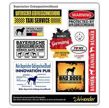Auto Aufkleber Sticker BAYERISCHER GEBIRGSSCHWEIßHUND COLLECTION Samm SIVIWONDER