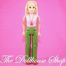 Fisher Price Loving Family Dollhouse Blonde Mother Mom Doll People Green Pants