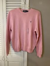POLO RALPH LAUREN Pink Cable Knit Sweater SZ XL New Ships Same Day!