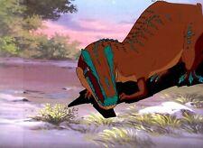 Cadillacs & Dinosaurs TV Series Original Hand Painted Cel & Copy Background 1993