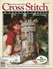 Cross Stitch & Countty Crafts Jul Aug 1992 magazine stocking farm kitchen
