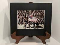 "ON PARADE WWII AFRICAN AMERICAN SOLDIERS REPRINTED COLORIZED PHOTO 5""X7"" MATTED"