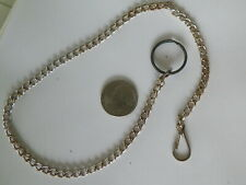 "15"" SILVER TONE POCKET WATCH CHAIN"
