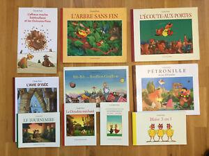 lot 10 livres éditions Ecole des Loisirs CLAUDE PONTI couvertures souples