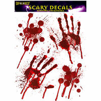 BLOODY HAND PRINT Stickers Halloween Decoration Zombie Dead Party Prop Scary
