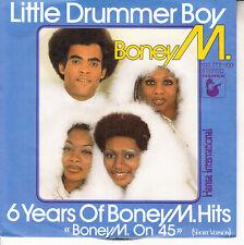 "BONEY M Little Drummer Boy PICTURE SLEEVE 7"" 45 record NEW + jukebox title strip"