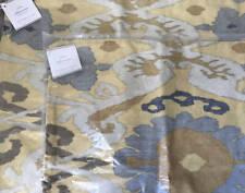 """Pottery Barn Sarina Ikat Pillow Cover (Set of 2) ~ 20"""" x 20"""" ~ Yellow / Gray"""