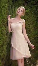 Carla Ruiz One-Shoulder Tulle Dress Dusty Pink - Size 8 - Box62 03 H