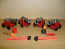 PLAYMOBIL 4 CANNONS (For Pirate ship,Knights,ACW,soldiers)
