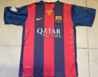 YOUTH Nike FC Barcelona Sz 16-18 L Large Home Jersey 2015-2016 messi dri-fit
